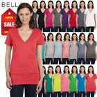 Bella Canvas Ladies Womens Deep V-Neck Short Sleeve S-XL T-Shirt R-B6035