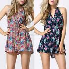 Sexy Womens Sleeveless Halter Playsuit Bodycon Party Shorts Jumpsuit Romper