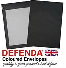 C4-A4 C5-A5 BLACK Coloured BOARD BACKED ENVELOPES Strong Hard Card Back Mailers