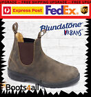 New Blundstone Mens URBAN Work Dress Boots Shoes Soft Toe Brown Leather 585