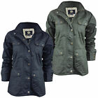 LADIES WOMENS UTILITY WAX COTTON JACKET MILITARY WAXED COAT (SPURS) *WAS £27.95*