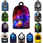 Galaxy Cat Skull Owl Wolf New Canvas Backpack for Teens Back to School  Bookbags