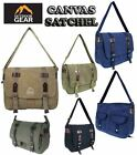 WOMENS MENS CANVAS OUTDOOR GEAR COLLAGE SATCHEL SHOULDER SATCHEL MESSENGER BAG