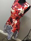 True Violet Floral Printed Dress With Open Back Tie Detail RRP £70 (AS-41/2)