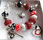 MLB CINCINNATI REDS Crystal European Team Charm Bracelet  FREE SHIPPING!!! on Ebay