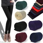 Women Fashion Brushed Stretch Warm Fleece Thick Tights Winter Feetless Pants