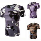 Men Camouflage Tactical Military Short Sleeve Army Camo T-Shirt Tops Casual