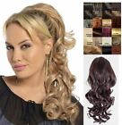 WOMENS CLIP IN DRAWSTRING CURLY LONG PONYTAIL HAIR PIECE VOLUME 1589B BLOSSOM