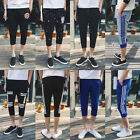 Men Cotton Shorts Pants Gym Trousers Sport Sweat Jogging Trousers Casual Slacks