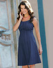 Bravissimo FLARED HEM DRESS crochet dress in NAVY (72)