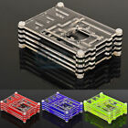 Colorful Clear Acrylic Case Cover Shell Enclosure Box For Raspberry Pi 3 Model B