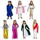 Girls Fancy Dress Up Costume Egyptian Roman Greek Victorian Tudor Age 4-12 New