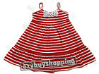 Red Striped Black Polka Dot Bow Summer Girls Dress