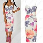 NEW LADIES STRAPPY MIDI DRESS MULTI FLORAL WOMENS BODYCON SLEEVELESS CAMI VEST