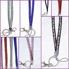 Lanyard Rhinestone Diamante Crystal Breakaway Bling Neck ID Card Phone Pink ++