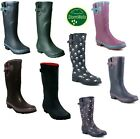 womens ladies extra wide calf polka dot wellies waterproof wellington rain boots