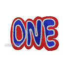 One Letter Number Embroidered Sew or Iron on Patch Badge Patches Applique