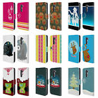 HEAD CASE DESIGNS MIX CHRISTMAS COLLECTION LEATHER BOOK WALLET CASE FOR LG G2