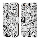 HEAD CASE DESIGNS DOODLE GALORE LEATHER BOOK WALLET CASE FOR APPLE iPHONE 6 6S