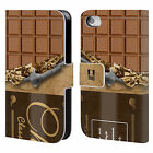 HEAD CASE DESIGNS CHOCOLATY LEATHER BOOK WALLET CASE FOR APPLE iPHONE 4 / 4S