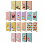 HEAD CASE DESIGNS CUPCAKES HAPPINESS LEATHER BOOK CASE FOR APPLE iPAD AIR 2