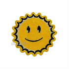 Smiley Face Sun Yellow Round Embroidered Sew Iron on Patch Badge Patches Sewing