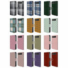 HEAD CASE DESIGNS PLAID LEATHER BOOK WALLET CASE FOR BLACKBERRY CLASSIC Q20