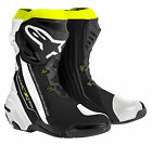 Alpinestars Mens SuperTech-R Race Motorcycle Boots - YELLOW/BLACK Track Road Str