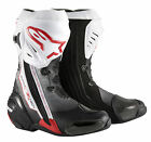 Alpinestars Mens Super Tech-R Race Motorcycle Boots - RED/WHITE Track Road Stree