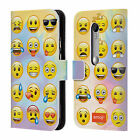 OFFICIAL EMOJI SMILEYS LEATHER BOOK WALLET CASE COVER FOR MOTOROLA PHONES
