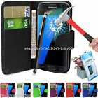 3in1 Samsung Galaxy S7 G930 Pu Leather Wallet Cover Pouch,Tempered Glass,Stylus