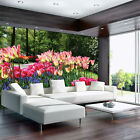 Photo Wallpaper COLORFUL FLOWERS SPRING TULIPS MEADOWS Wall Mural (3403VE)