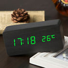 Fashion Sound Control Led Alarm Clock Digital Time Temperature Display