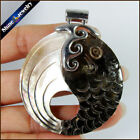 Natural Mother of Pearl Sea Shell Carved Fish Pendant Necklace Women Jewelry