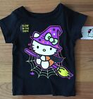 NWT Girls HELLO KITTY Black Short Sleeve Halloween Tee ~Infant & Toddler Sizes