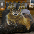 ANIMAL PRINT TWILIGHT WOLF HUSKY DOG  QUILT DUVET COVER BEDDING SET NEW