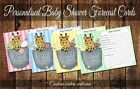 BABY SHOWER FORECAST/PREDICTION CARDS - Giraffe Pocket - assorted colours