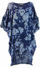 Tunic dress Asymmetric bohemian blue flowers jeans - GERMAINE Charleselie94