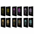 SKULLS IN ANIMAL PRINTS LEATHER BOOK WALLET CASE FOR SAMSUNG GALAXY TAB S2 9.7