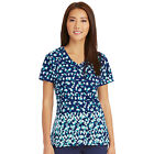 Signature by Grey's Anatomy™ Women's V-Neck Abstract Print Scrub Top 2138