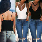 Womens Sexy Summer V-Neck Vest Top Sleeveless Blouse Casual Tank Tops T-Shirts
