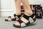 New Summer Fashion Soft  leather VELCRO Comfor Men's shoes Running Beach Sandals