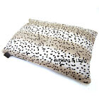 Faux Fur Snow Leopard Print Large Dog Pet Bed Zipped Cover + Optional Pillow