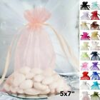 50 pcs 5x7 inch ORGANZA BAGS Pouches - Wedding FAVORS Drawstring Gift Packaging