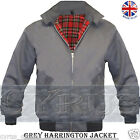 HARRINGTON BOMBER JACKET MENS VINTAGE SCOOTER RETRO CLASSIC MOD GREY SPRING