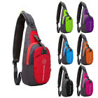 Outdoor Waterproof Nylon Chest Shoulder Bag Sport Running  Messenger Backpack