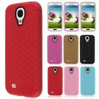 Slim Soft Honeycomb TPU Silicone Rubber Phone Case Cover For Samsung Galaxy S4