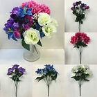 *SUMMER FLOWER BUNDLE* Job Lot Of 5 x Bunches Of Artificial Flowers