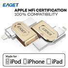 MFI Licensed EAGET i80 32G 64G 128G USB 3.0 Flash Drive iOS iPhone Memory Expand