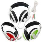 T155 3.5mm Jacks Plastic Headset Headphone Sport Earphone w Mic for PC MP3 US
